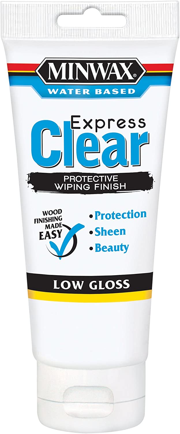 Minwax 40802 6-Ounce Clear Low Gloss Color Wiping Stain and Finish