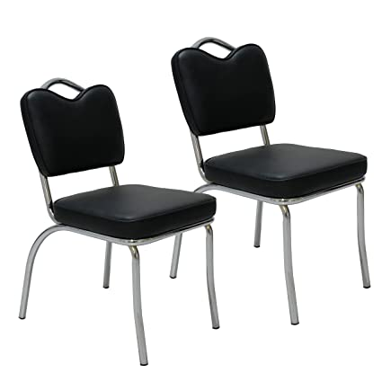 At Home Dining Chairs.Amazon Com Porthos Home Nh002a Blk Retro 1950s Diner Style Dining