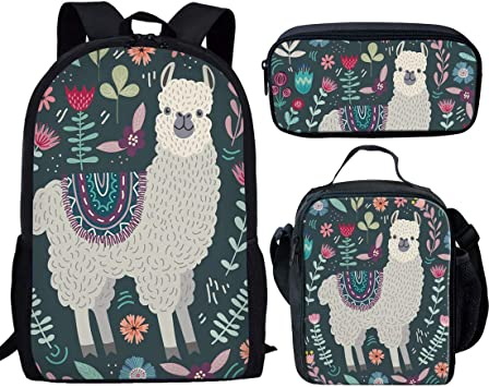 Patterned Owl Backpack and Pencil Case Set