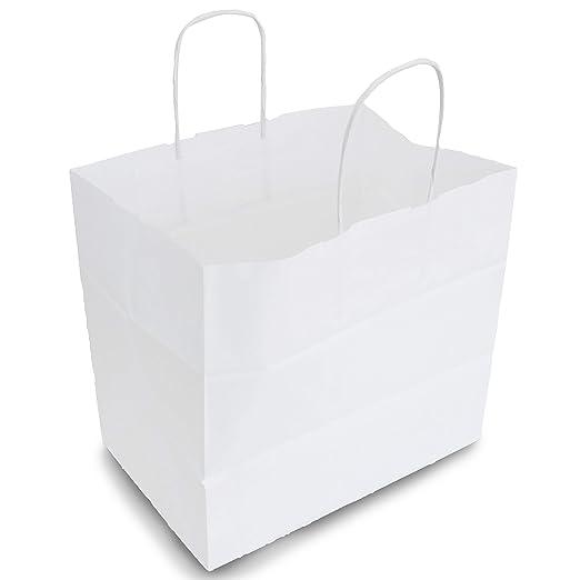 Extiff - Lote de Bolsas de Papel Celular Blanco con Asas 26 ...