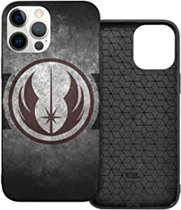 Star War-S Jedi Logo iPhone 12 Pro Max Case for Women/Men Slim Thin Flexible TPU Scratch-Resistant Gel Rubber Soft Skin Silicone Protective Case Cover for iPhone 12-6.1''-6.7'' Mini-5.4''