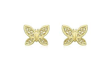Carissima Gold Women's 9 ct Yellow Gold Stud Earrings XXqTNznZ