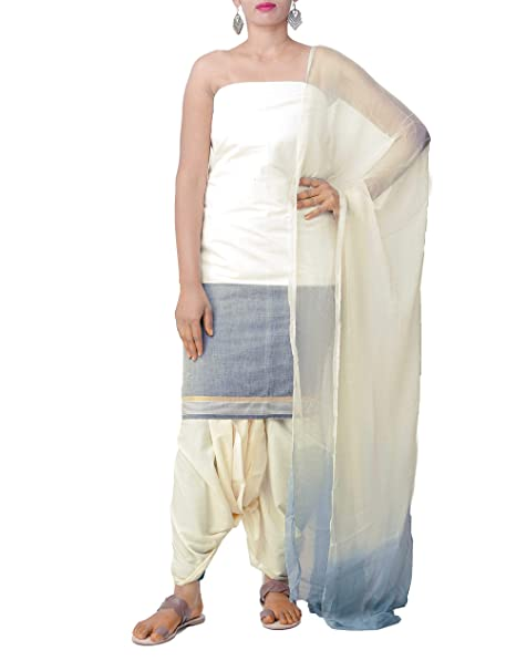 7c789fa298 Unnati Silks Women Pure Andhra Khadi Cotton Salwar Kameez from Andhra  Pradesh (PR8035+Off White+Free Size): Amazon.in: Clothing & Accessories