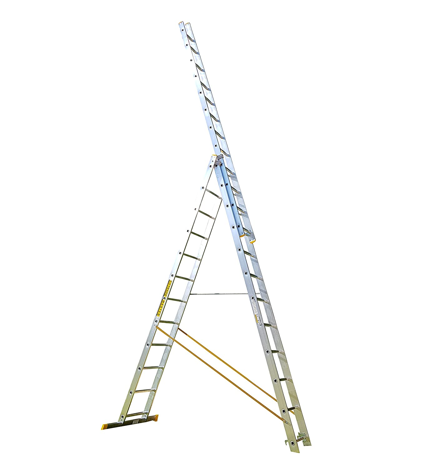 8 Rung Trade Master Combi All-in-One Extension Ladder, Step Ladder & Free Standing Ladders Plus Step Platform BPS Access Solutions