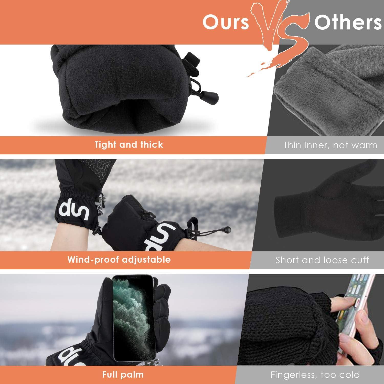 Winter Ski Gloves,Touch Screen Waterproof Snow Gloves,Windproof Gloves,Men/&Women