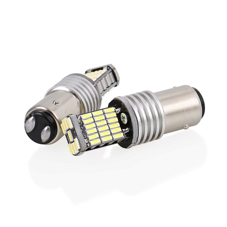 CICMOD 2 x 1000 Lumen Canbus Error Free 1156 BA15S P21W 45*4014 SMD, Bombillas LED para la Luz de Coche, Blanco 6500K: Amazon.es: Coche y moto