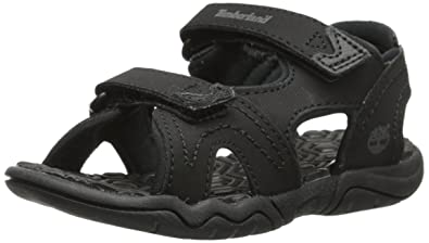 Timberland Adventure Seeker Two-Strap Sandal (Little Kid),Blackout,1 M