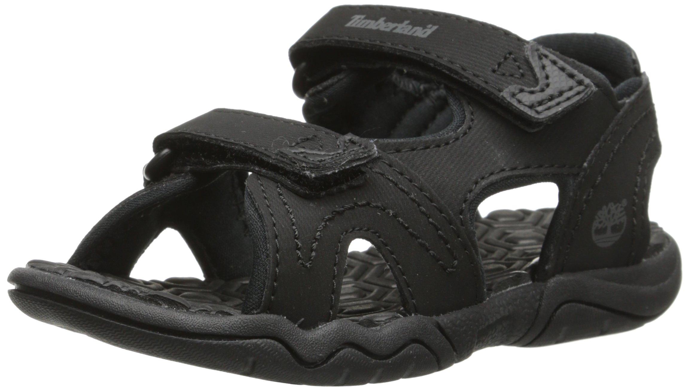 Timberland Adventure Seeker Two-Strap Sandal (Toddler/Little Kid),Blackout,9 M US Toddler