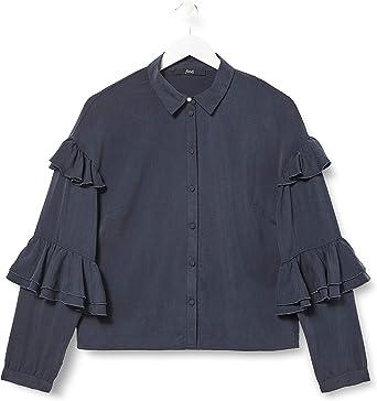 TALLA 46 (Talla del fabricante: XX-Large). find. Blusa Mujer Azul (Navy) 46 (Talla del fabricante: XX-Large)