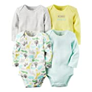 Carter's Baby Boys 4-pack Long-sleeve Bodysuits (9 months, animals)