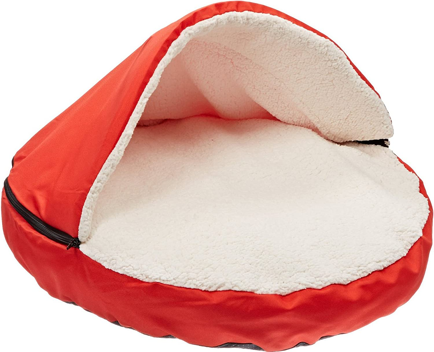 Amazon : Sofantex Plush Pet Bed Cave For Cats And Small To Medium Size  Dogs And Cats, Red, 25