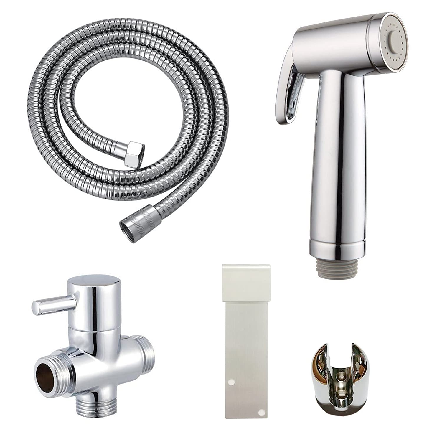 Home Garden Toilet Handheld Bidet Sprayer With Shut Off Valve Hose And Bracket Holder Attach Toilet Bidet Attachments Labmotion Com Br