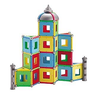 Mag-Genius - Set di giocattoli magnetici per costruzioni, edizione 2016, con bastoncini estremamente grandi per migliorare la stabilità del set di costruzione, aiuta lo sviluppo dell'intelligenza