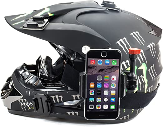 Phone Holder For Motorcycle Dash Helmet /& More Fits iPhone Samsung Galaxy Film Your Rides