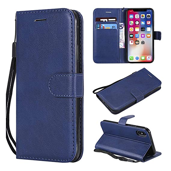 newest 71eaa ecffd Amazon.com: iPhone Xs Cases, iPhone X 10 Wallet Case, [Wrist Strap ...