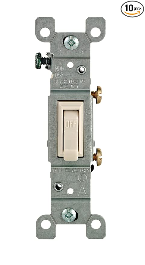 10 Leviton 3-Way Toggle Switch IVERY 1453-2I price FOR 10PC NEW  1453-I