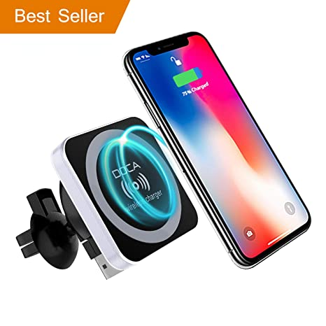 DOCA Wireless Car Charger Magnetic - 360 Rotating Fast