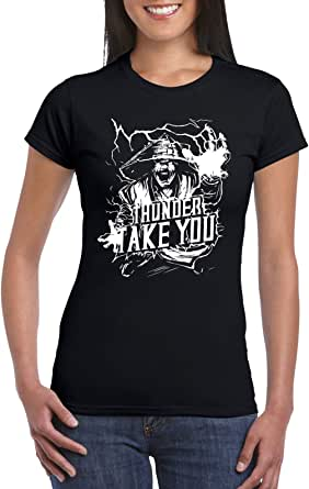 Black Female Gildan Short Sleeve T-Shirt - Raiden – Thunder take you design