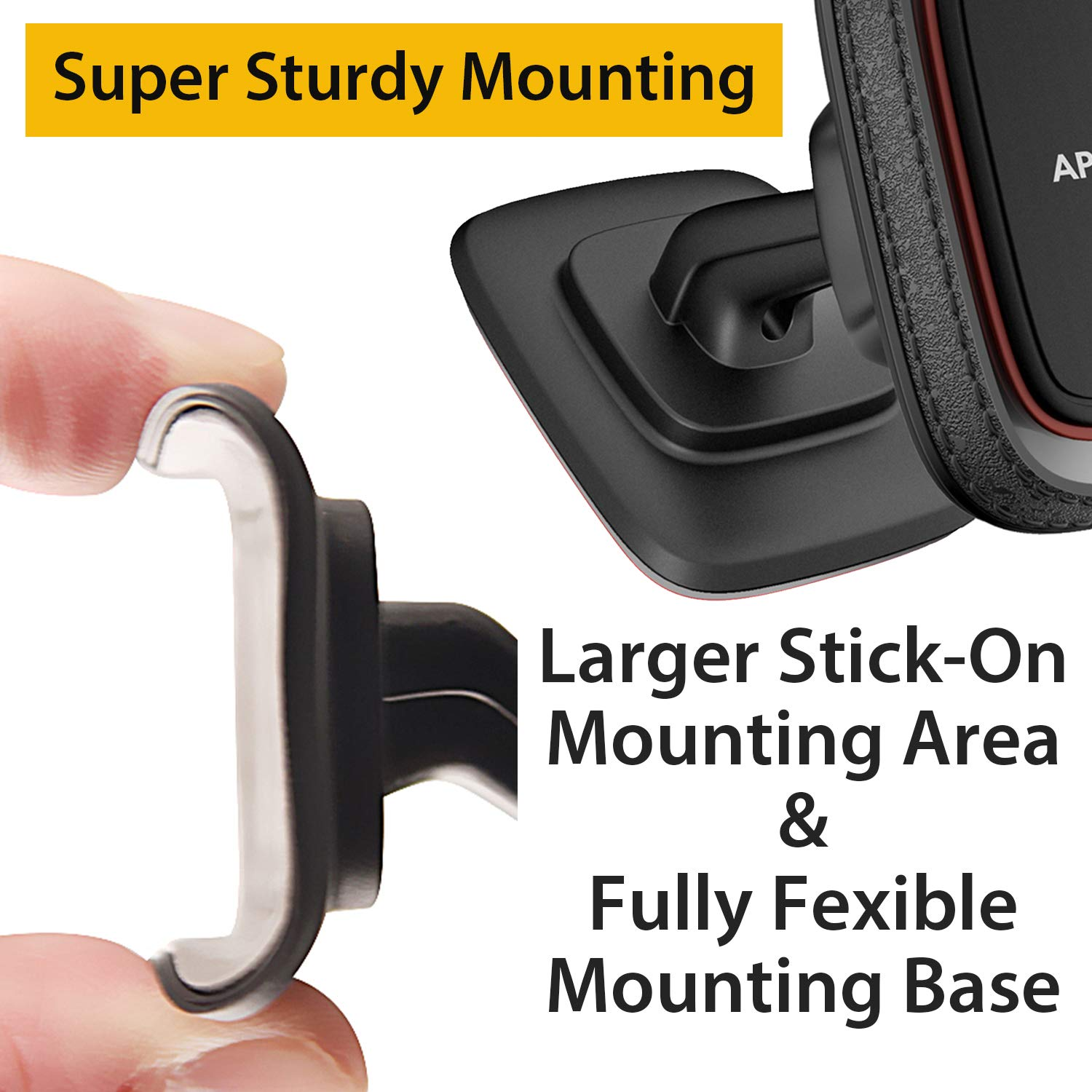 Magnetic Phone Car Mount New Generation APPS2Car Universal Magnetic Cell Phone Holder for Car with 6 Strong Magnets Magnetic Car Phone Mount with Strongest VHB Adhesive Sturdy Dash Phone Mount