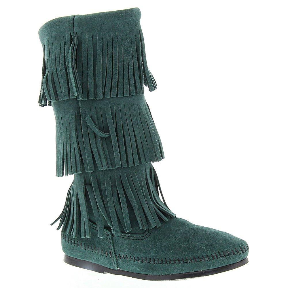 Minnetonka Women's 3-Layer Fringe Boot B00U6ZQUYO 5 B(M) US|Pine