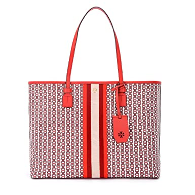 2e1f139fe Amazon.com: Tory Burch Gemini Link Small Canvas Tote in Liberty Red:  Clothing