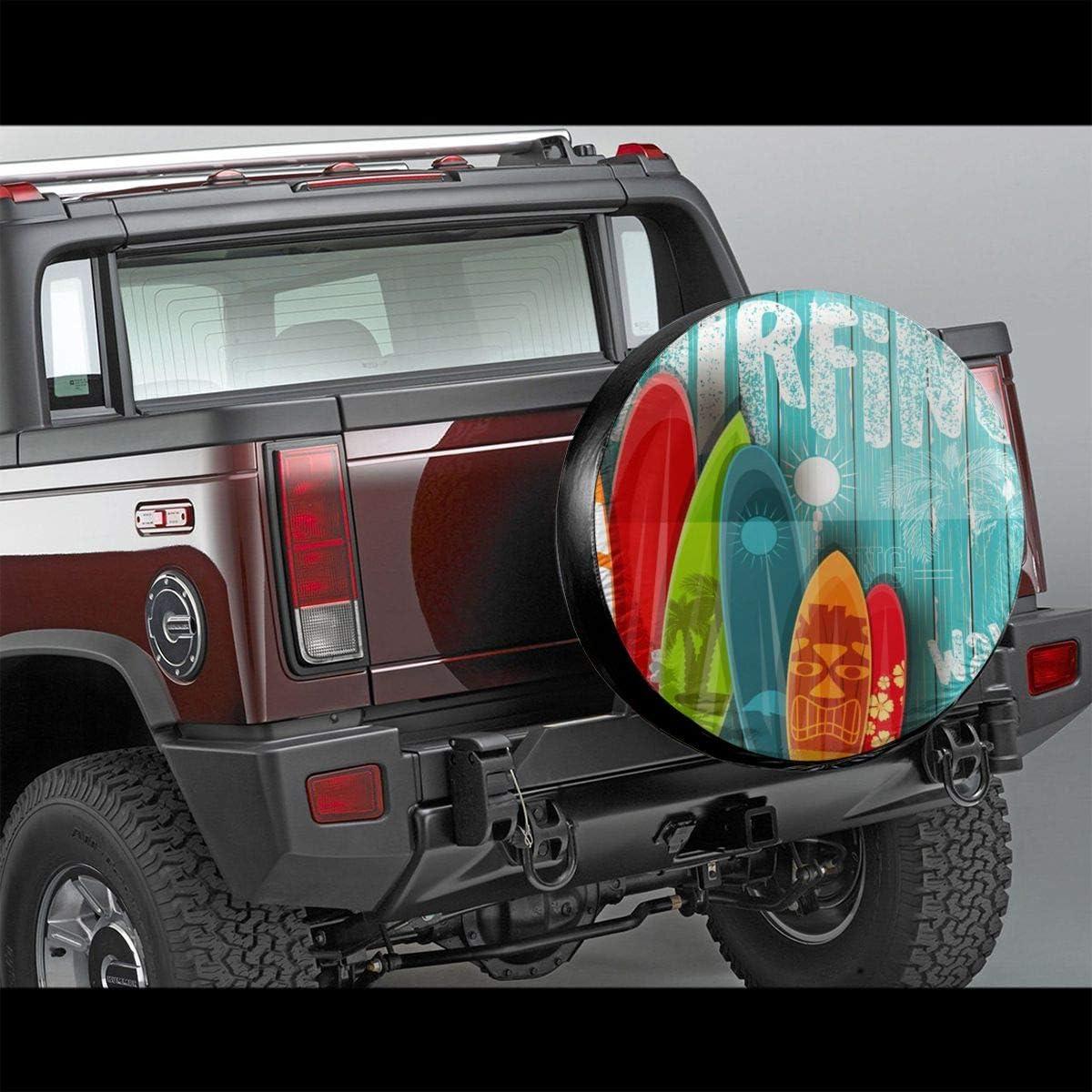 Waterproof UV Sun RV Trailer Tire Protectors Baby Goat Smile Moment Fit 23.6 to 27.1 Truck Camper Van Auto Car Tires Diameter AMRANDOM Wheel Tire Covers