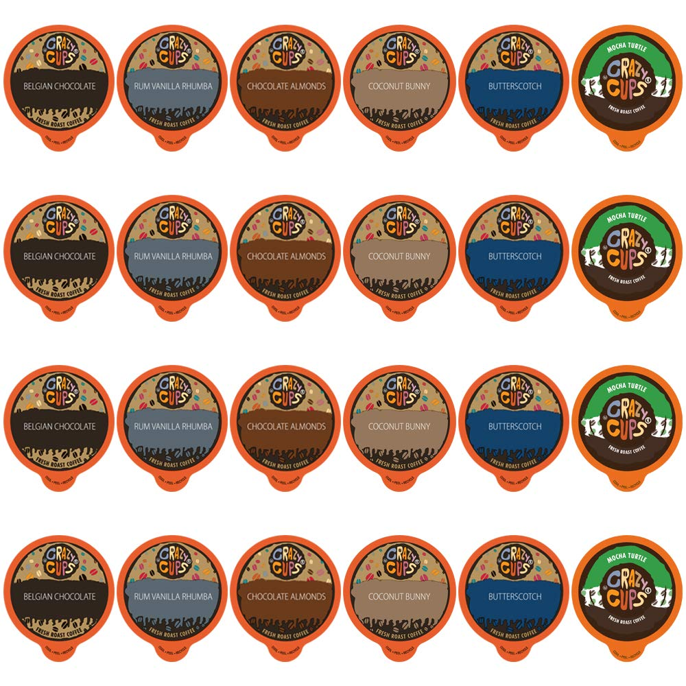 Crazy Cups Flavored Naturals Variety Pack, 24 Count