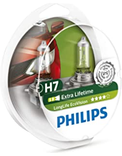 Philips Longlife EcoVision H7 Headlight Bulbs (Twin Pack)