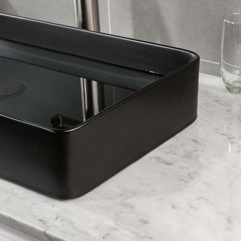 WOODBRIDGE Matte Black V23560 20 x 16 Vitreous China Bathroom Vessel Vanity Sink