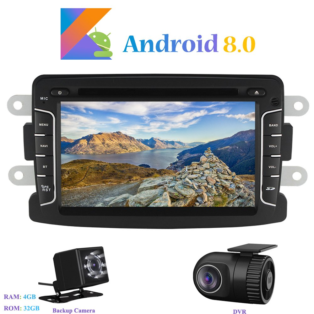mit R/ückfahrkamera Dash 1 Din 8-Core RAM 4G ROM 32G Car Radio 7 Autonavigation f/ür Dacia Sandero//Renault Duster//Lada Xray 2// Renault Captur//Logan 2 Hi-azul Android 8.0 Car Autoradio