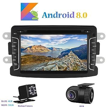 """Android 8.0 Autoradio, Hi-azul 1 DIN 7"""" Radio de Coche RAM 4G"""
