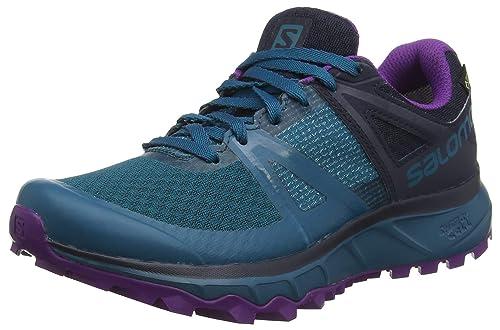 Salomon Trailster GTX, Calzado de Trail Running, Impermeable para Mujer: Amazon.es: Zapatos y complementos