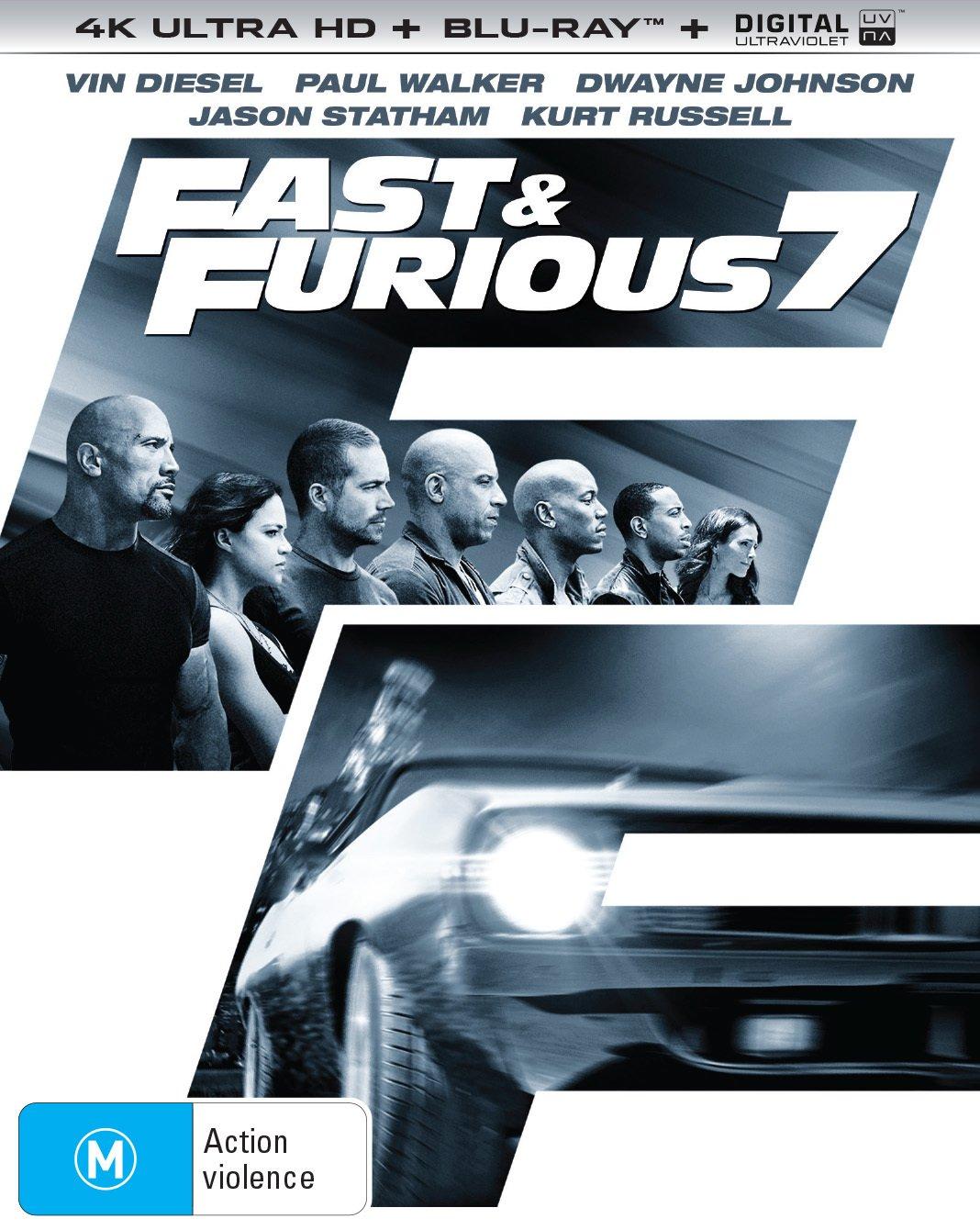 4K Blu-ray : Fast & Furious 7 (Australia - Import)