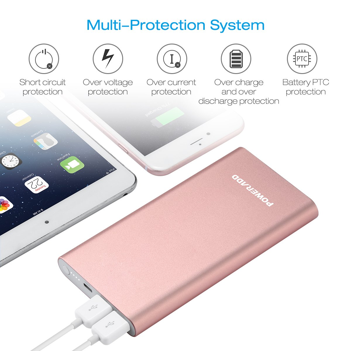 Poweradd Pilot 4gs 12000mah Apple Lightning Portable Power Bank Mobile Phone And Ipod Battery Charger Circuit External With 3a High Speed