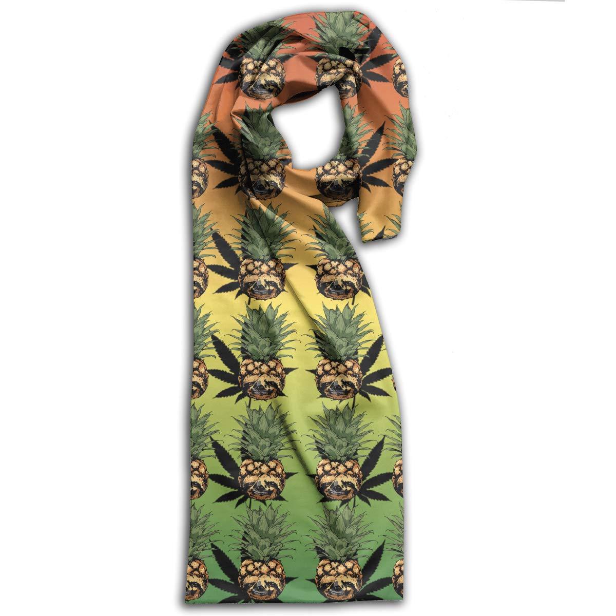 Cannabis Skull Pineapple Unisex Fashion Scarf Versatile Head Wrap