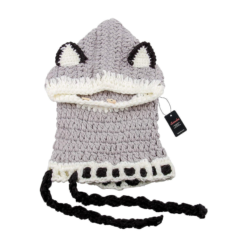 Superora Cappello in Maglia da Bambini Invernale Berretto Volpe Animale  Caldo Coif Cappuccio Sciarpa BLY- e5848baee312