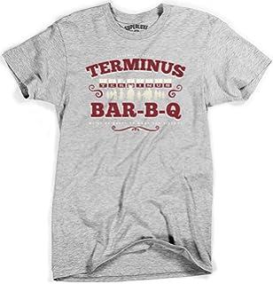 Mens Terminus BBQ Vintage Style Zombie Apocalypse T Shirt