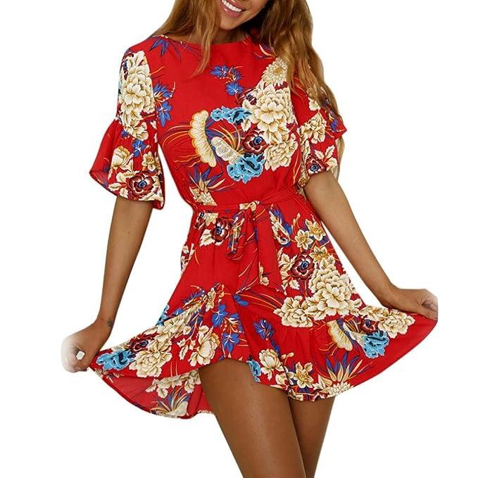 1cf07fd2a16a Vestidos De Playa con con Volantes Mujer LHWY, Vestidos Vintage con ...