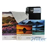 Lee Filters 77mm Landscape Starter Kit 1 - Lee Foundation Kit, 77mm Wide Angle Ring, Lee 4x6 Grad ND Soft Edge Set and 4x4 Big Stopper with 2filter cleaning kit