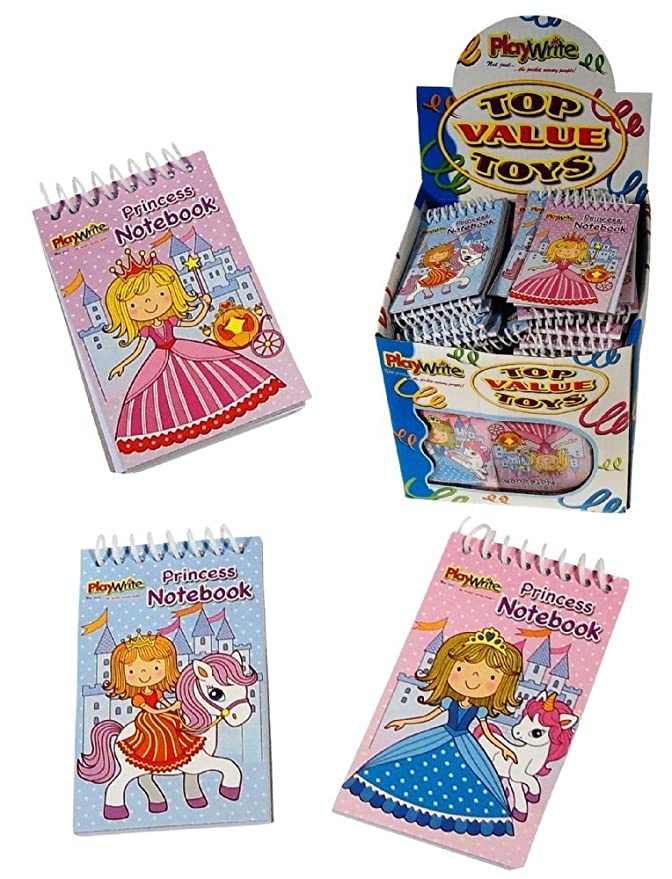 Princess Mini Spiral Notebooks for Children/'s Birthday Party Loot Bags