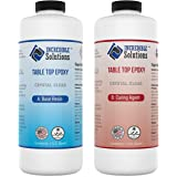 2 Quart Kit, Table Top & Bar Top Epoxy Resin, Crystal Clear High Gloss Finish, Self Leveling, Perfect for DIY Epoxy Counter T
