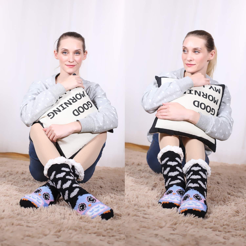 warm f/ür den Winter niedlich Jielucix Damen Flauschige Hausschuhe aus Fleece kuschelig rutschfest Gr/ö/ße 37-40