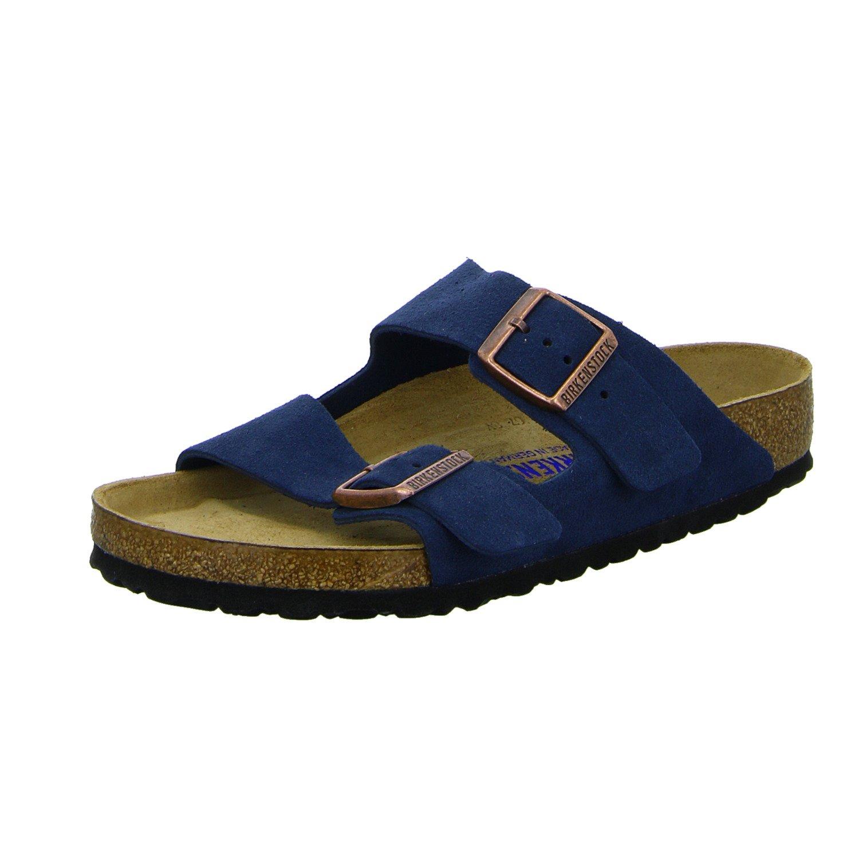 Birkenstock 1012423/302 - Zuecos de Cuero para Mujer Azul Blau (Blau) 45 EU|Azul Marino
