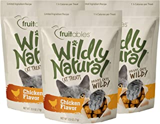 product image for Fruitables Wildly Natural 2.5 Ounce Grain Free Chicken Treat for Cats Pack of 3