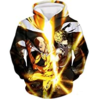 CHENMA Men One Punch Man 3D Print Pullover Hoodie Sweatshirt with Front Pocket