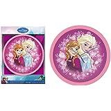 Horloge Murale Disney Frozen La Reine Des Neiges Rose Anna et Elsa 25 cm