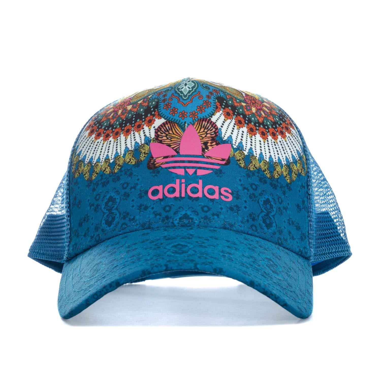 adidas M B Gorra de Tenis, Mujer, Azul (aguama/multco), OSFM: Amazon.es: Deportes y aire libre