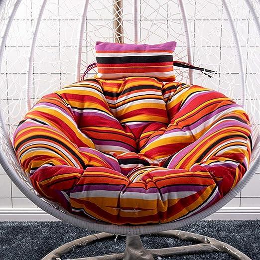 Love Home Cojín para La Silla De Oscilación,Patio Jardín Mimbre Cojines Redondos De Silla Hamaca Cojines De La Silla para Muebles De Exterior(Sin Silla)-a 105x105cm(41x41inch): Amazon.es: Hogar