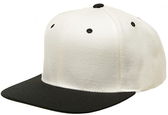 Flexfit Yupoong Two-Tone Pro-Style Snapback Blank Hat 6098MT Natural ... 30943813d0c