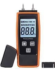 Proster Misuratore Umidità Legno Igrometro Retroilluminazione per Legna Digitale LCD Display Rilevatore Umidità per Cemento 4 Tipi Legna